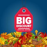 Big discount label. Special offer. Stock Illustration