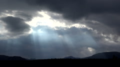 Intensely Dark God Rays Wilderness Time Lapse HD Stock Footage