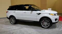 Range Rover Sport HSE SUV on display during the Miami International Auto Show Stock Footage