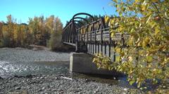 Kettle Valley Rail Bridge, Princeton BC 4K UHD Stock Footage