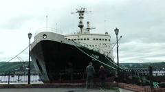 "Nuclear icebreaker-museum ""Lenin"". Stock Footage"