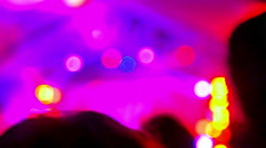 4K Entertainment Music Festival Lights, Flashing Strobe Beams, Color Stock Footage