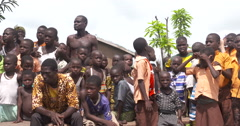 Ghanaian children Stock Footage