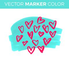 Vector grunge heart, Valentine day, illustration vintage design element Stock Illustration