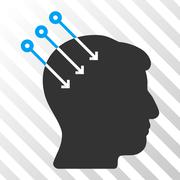 Neural Interface Connectors Vector Icon Stock Illustration