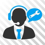 Service Manager Message Vector Icon Stock Illustration