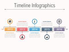 Timeline Infographics Piirros