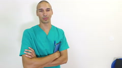 Portrait of dental surgeon in practice Stock Footage