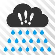 Thunderstorm Rain Cloud Vector Icon Stock Illustration