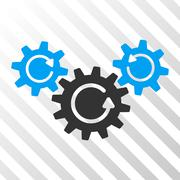 Transmission Wheels Rotation Vector Icon Stock Illustration