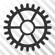 Clock Wheel Vector Icon Stock Illustration