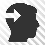 Head Plug-In Arrow Vector Icon Stock Illustration