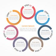 Circle Chart Seven Elements Stock Illustration