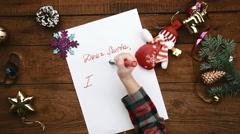 Christmas letter to Santa Claus Stock Footage