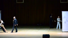 Dancers dance on the scene. Stock Footage