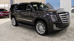 Cadillac Escalade SUV on display during the Miami International Auto Show Stock Footage