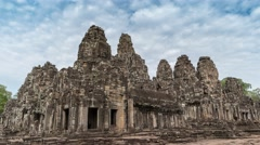 Bayon Temple timelapse, Siem Reap, Cambodia, 4K Time lapse Stock Footage