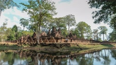 Banteay Srei Temple timelapse, Siem Reap, Cambodia, 4K Time lapse Stock Footage