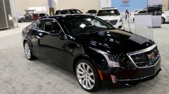 Cadillac ATS sedan on display during the Miami International Auto Show Stock Footage