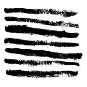 Collection of vector art brushes. Hand crafted custom grunge brushes with rou Stock Illustration