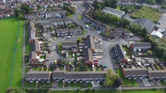 Aerial view of a residential area in Dudley. Stock Footage
