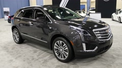 Cadillac XT5 on display during the Miami International Auto Show Stock Footage