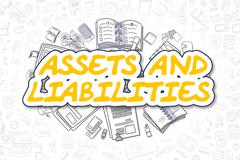 Assets And Liabilities - Business Concept Stock Illustration