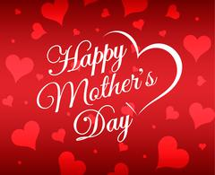 Happy Mother's Day vector festive holiday Illustration typographic design card Stock Illustration