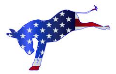 Democrat Donkey Flag Stock Illustration