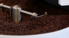 Shot of the coffee roasting process. Stock Footage