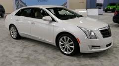 Cadillac XTS sedan on display during the Miami International Auto Show Stock Footage