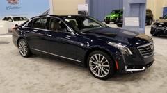 Cadillac CT6 sedan on display during the Miami International Auto Show Stock Footage