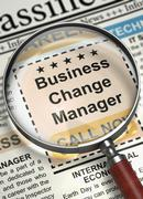 We are Hiring Business Change Manager. 3D Stock Illustration