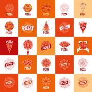 Pizza vector logo Piirros