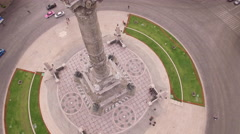 Flying around Angel of Independence Mexico City Stock Footage