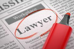 Lawyer Hiring Now. 3D Piirros
