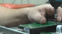 Installation of the receiver Board, repair, loosening, video Stock Footage