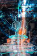 Scientific hud  background as medical and biological futuristic Stock Illustration