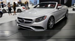 Mercedes AMG S63 on display during the Miami International Auto Show Stock Footage