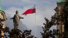 Flag Of Poland. 4K. Stock Footage