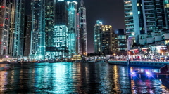 Dubai, United Arab Emirates: view of the towers in the district Dubai Marina Stock Footage