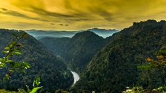The Dunajec River Gorge. Stock Footage