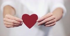 Woman hands giving Heart shape Love symbol holiday Stock Footage