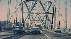 San Francisco 1977: driving in the old bay bridge Stock Footage