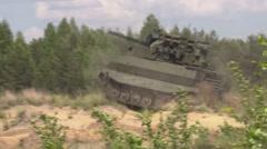 Uranium-9 Russian Fighting robot Stock Footage