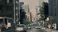 San Francisco 1977: view from a cable car Stock Footage