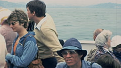 San Francisco 1977: people during a sightseeing trip Stock Footage