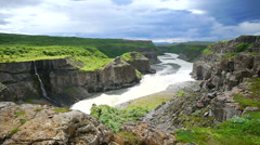 Grand canyon of Iceland Stock Footage