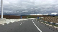 Driving away from Košice towards the Slovakian and Hungarian border Stock Footage