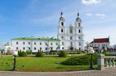 Holy Spirit Cathedral, Minsk, Belarus Stock Photos